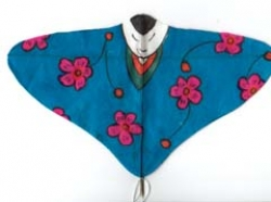 Akiko Takakuwa Japanese Doll Kite - Blue